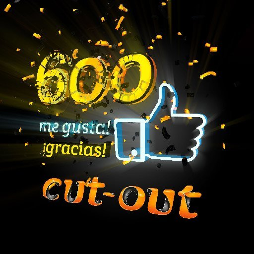 600 likes y 1000 gracias! – Cut-out Motion Graphics