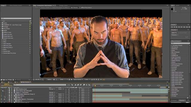 VFX: Simulación de multitudes. ¡Witch doctor!
